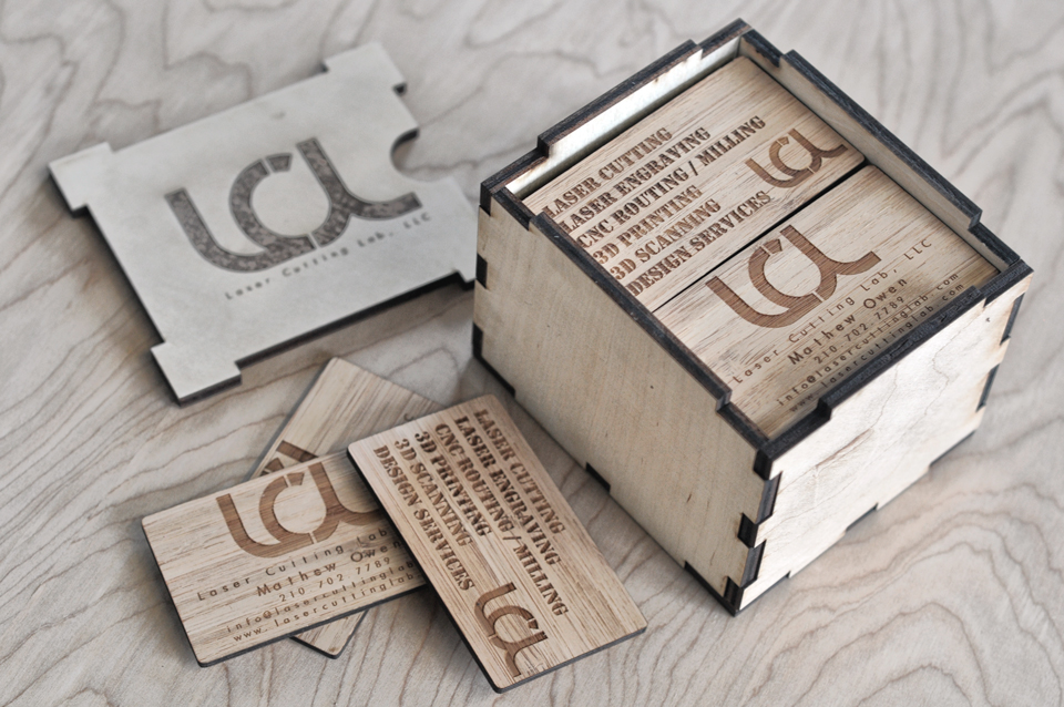 Engraved Bamboo Business Cards