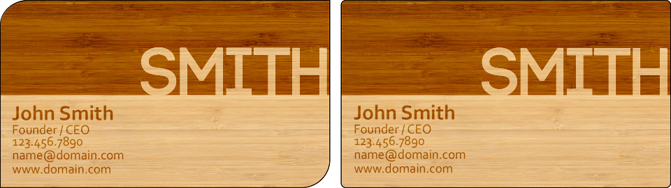 Laser engraved business card templates laser cutting lab llc basic laser engraved business cards bamboo template half engraved flashek Images