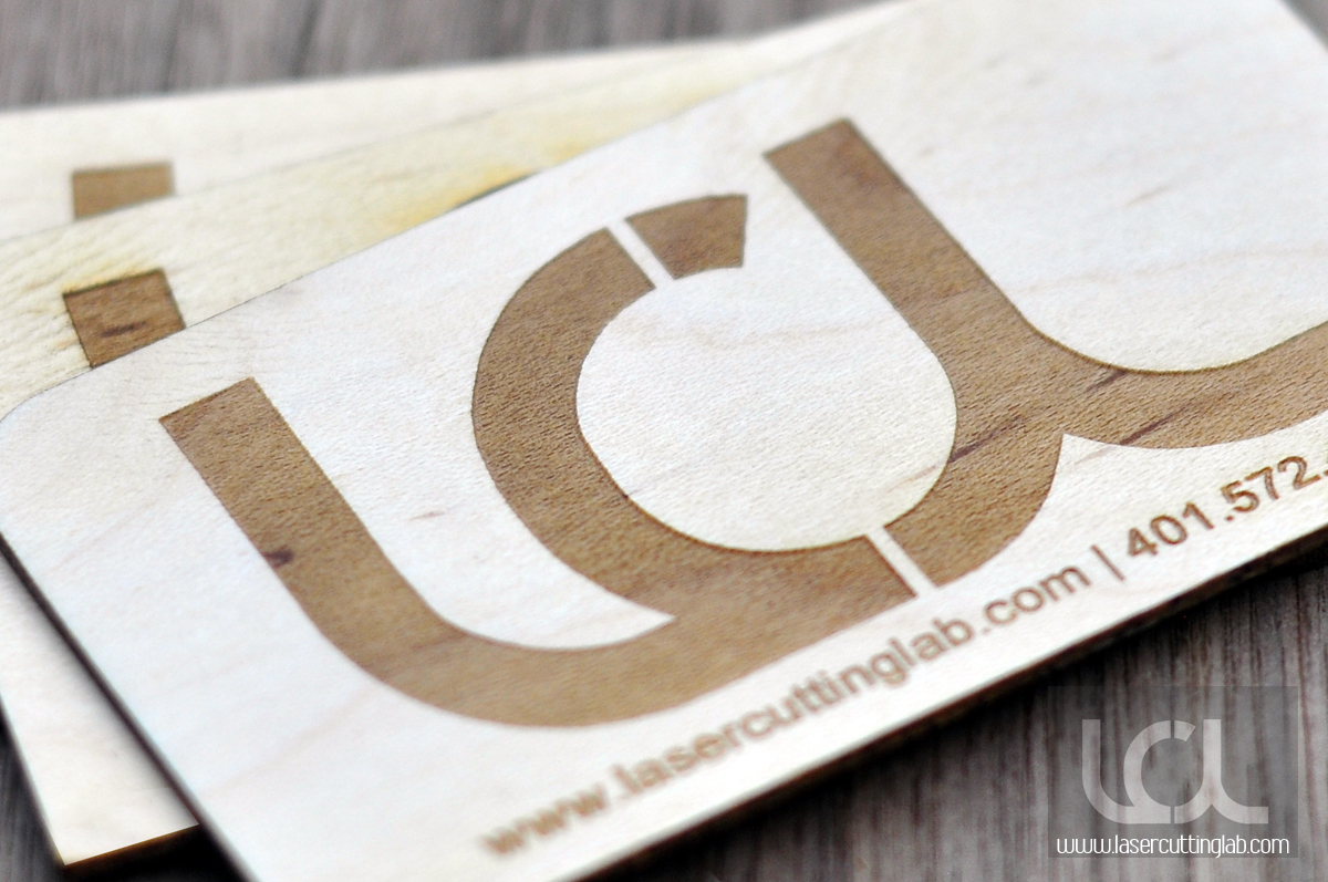 Laser engraved maple wood business cards laser cutting lab llc laser engraved maple wood business cards colourmoves
