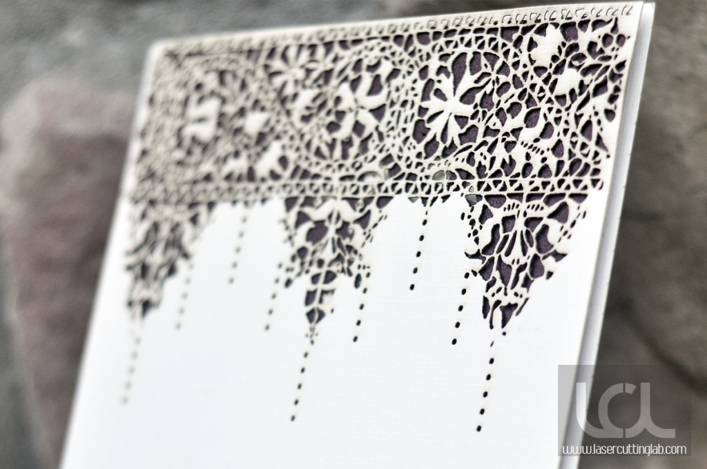 Laser Cut Lace Invitation - Laser Cutting Lab, LLC
