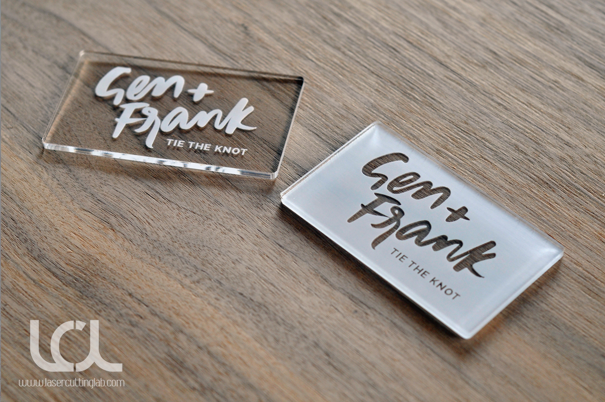 Laser Engraved Clear Acrylic Business Cards