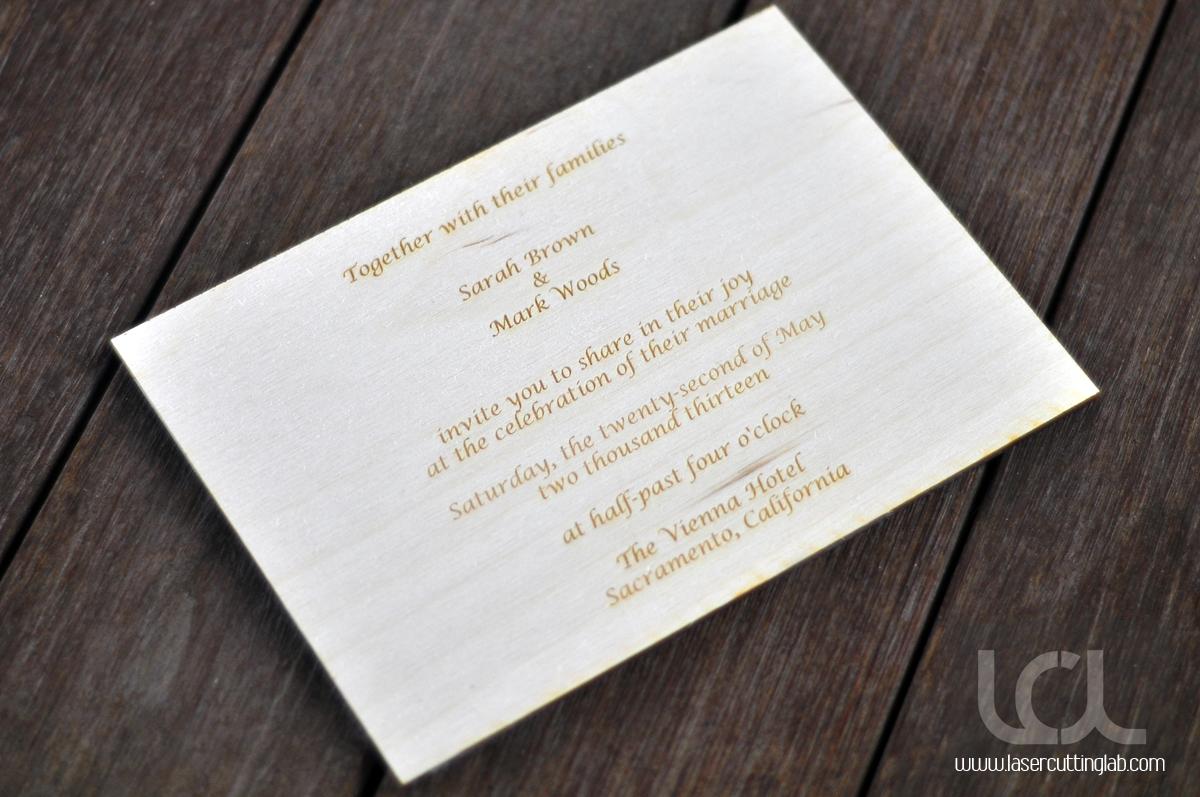 Wood Folk Lace Wedding Invitation - Laser Cutting Lab, LLC