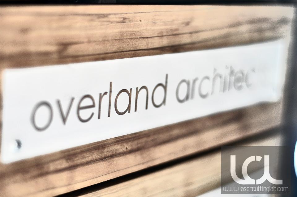 Laser Engraved Name Plates Overland Architects Laser