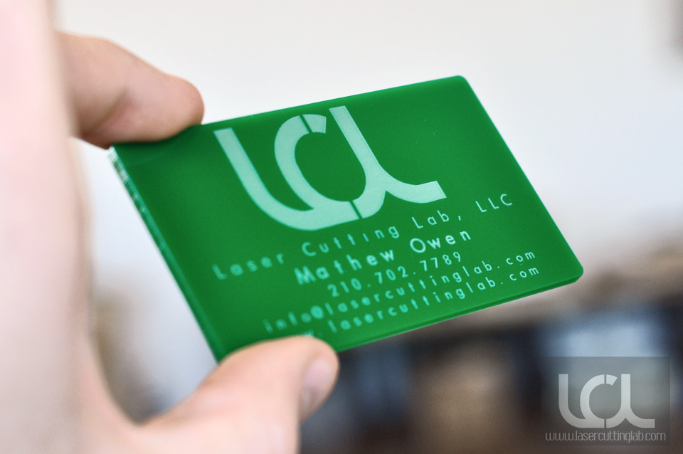 green-acrylic-business-card