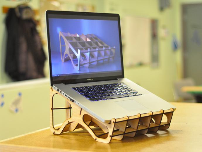 Laser Cut Laptop Stand Laser Cutting Lab Llc