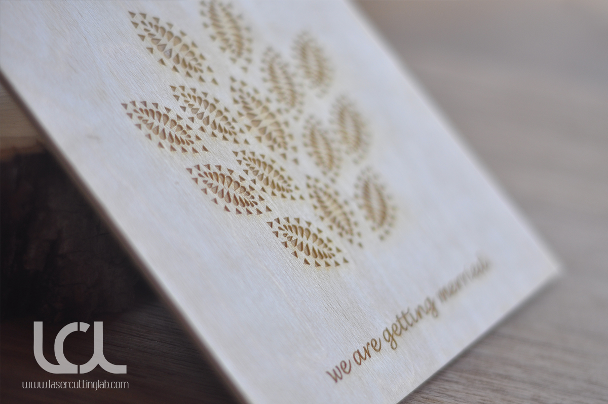 Laser Engraved Wooden Wedding Invitations Laser Cutting