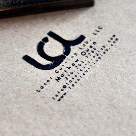 Laser engraved business card stamp laser cutting lab llc laser engraved business card stamp colourmoves