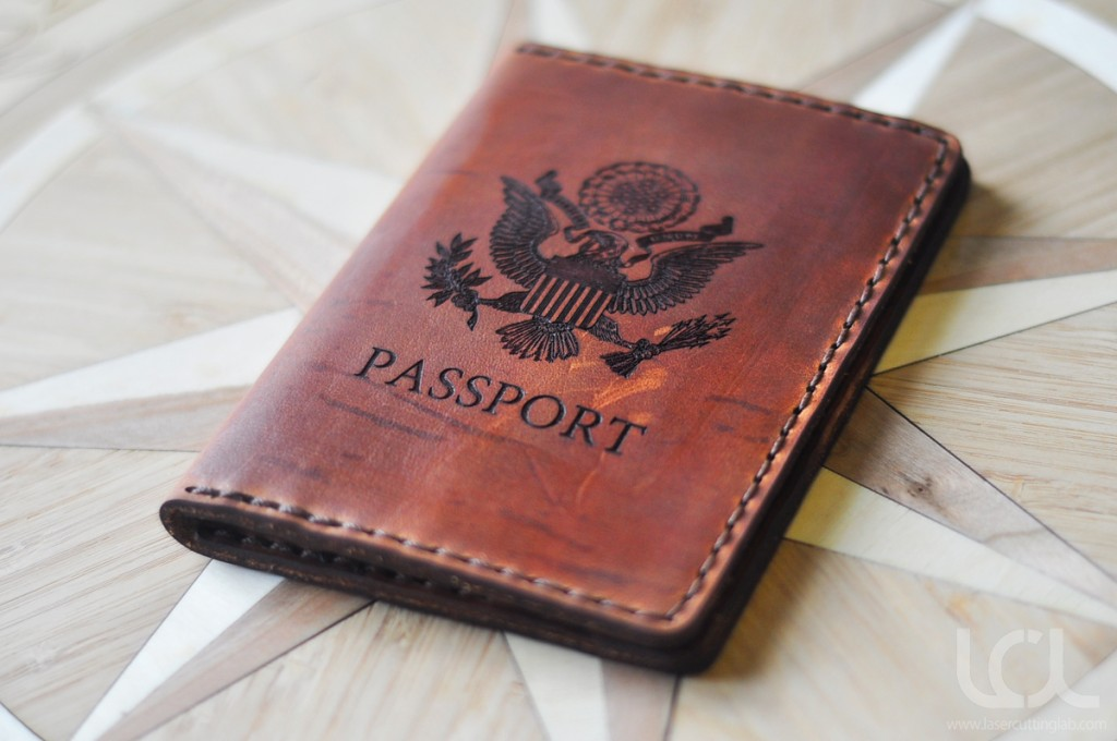 Laser Engraved Custom Passport Wallet Laser Cutting Lab Llc
