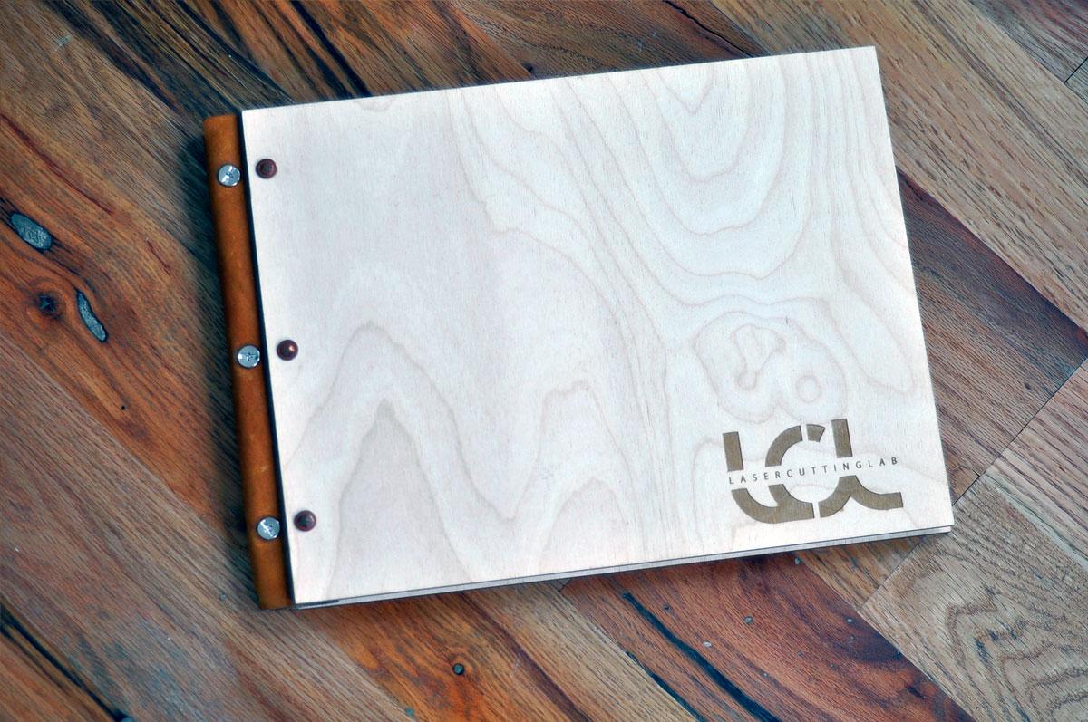 Wood And Leather Screw Post Portfolio 11 Quot X 17 Quot Laser