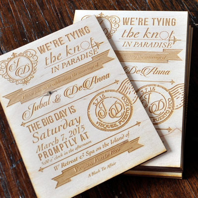 vintage wood wedding invitations 5 x 7 - Wood Wedding Invitations