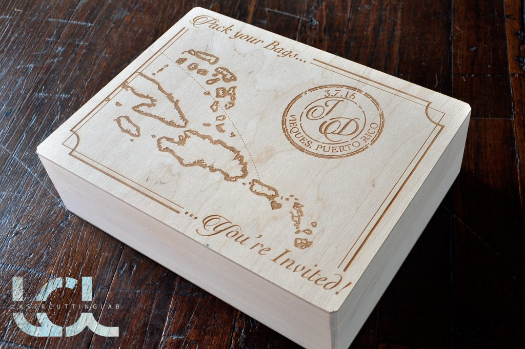 Laser Engraved Wedding Boxes Vintage Style 11 Quot X 8 5 Quot