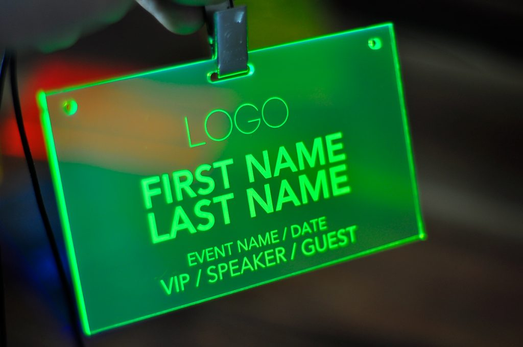 laser-engraved-green-conference-badges-001