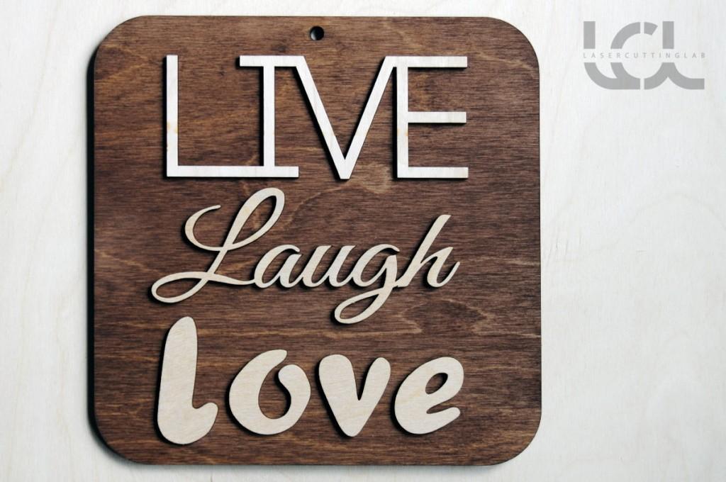 Live Laugh Love Decoration Sign Wood